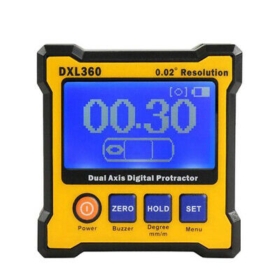 Mini DXL360 Dual-axis 50-60Hz 100-240V Angle Protractor + 5 Side Magnetic Base