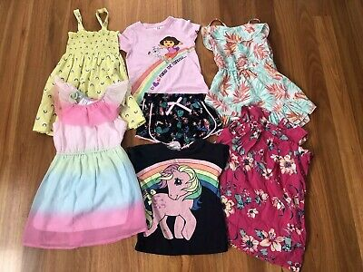 Girls Bulk Size 3 Summer Clothes - Dora, Milkshake, My Little Pony, Etc