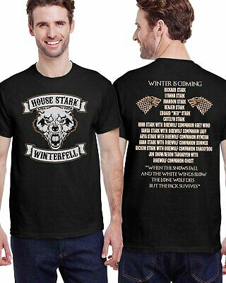 Game of Thrones Direwolf Winter is Coming Quotes T-Shirt