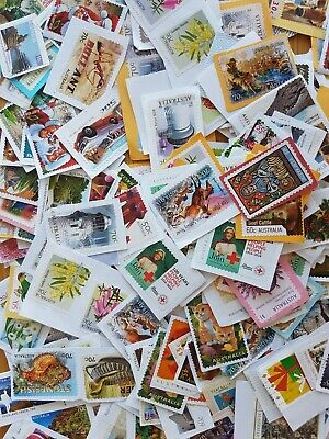 120+ Australian used ONLY 50c to + INCLUDING $1 STAMPS kiloware bulk FAST POST