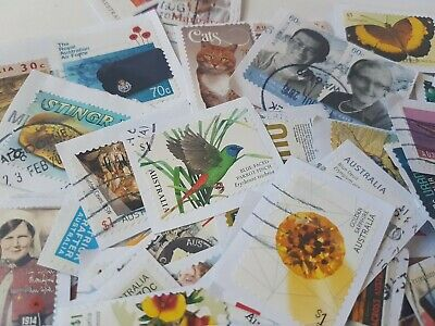 200+ Australian used ONLY High Value Incl $1 stamps kiloware bulk FAST POST