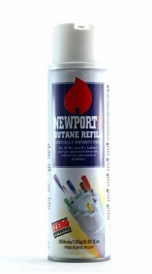 Newport Gas 300ml Universal Butane Gas Refill Lighter Blow Torch Fuel BBQ