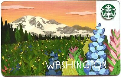 $25 Starbucks Gift Card New - Mount Rainier Picture Limited Edition