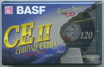BASF CE II 120 Minute Blank Audio Tape/Cassette New and in original packaging