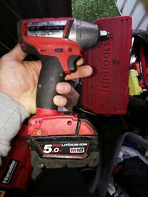 Milwaukee 18V Cordless Impact Wrench one key 5.0 ah battery included