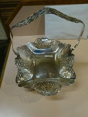 Vintage large, pierced silver plated BON BON serving tray . Made in Australia.