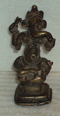 Antique Hindu God Ganesha Traditional Indian Ritual Rare Bronze Elephant God #16