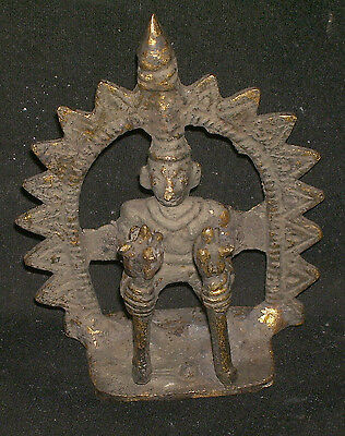 "Antique Hindu Traditional Indian Ritual Bronze ""TRIBAL Figure Of Hindu Sage"""