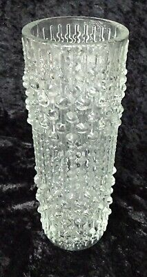 Czech SKLO Union Clear Candle Wax vase by Frantisek Peceny