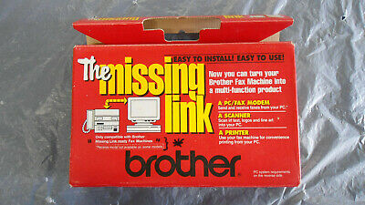 Vintage The Missing Link by Brother PC fax printer cable for IBM PC 386 Win 3.1