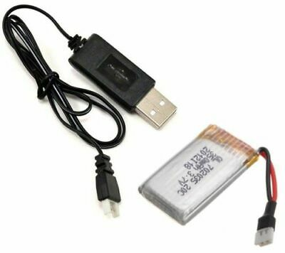 JJRC 1000 2.4GHz 3.7v 350mAh Lipo Battery and USB Charger T154