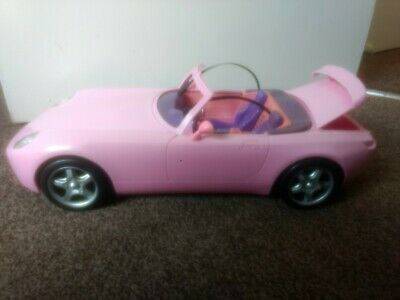 Pink Doll convertible Car with light and sounds