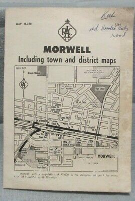 Circa 1960's RACV Morwell Including Town And District Maps Fold Out Map.