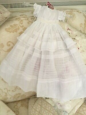 Antique German Bisque Doll Dress and Underskirt