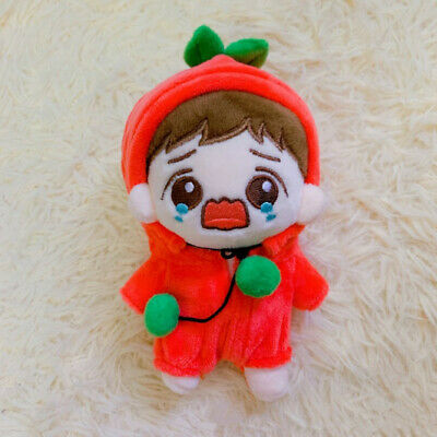 15cm/6'' KPOP EXO PLANET BAEKHYUN Plush Doll Toy with Red Sweater baby donot cry