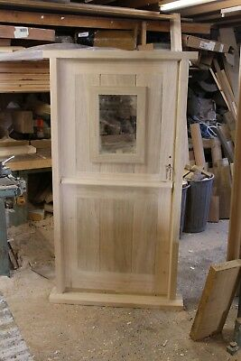 1 Lite Solid Hardwood Stable Door Solid Timber    Made to Measure
