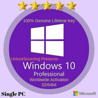 Windows 10 Pro 32 | 64 Bit Win 10 Genuine License Original Activation Key