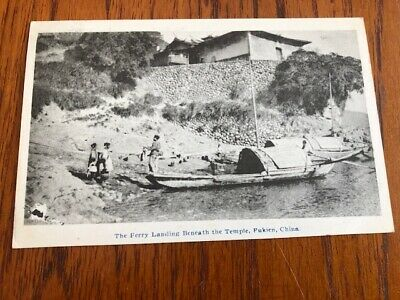 Early 1900's - The Ferry Landing Beneath the Temple, Fukien