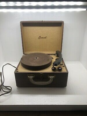 Rare Portable Cromwell 78/ 45/ 33 1/3 Phonograph Gramophone Record Player
