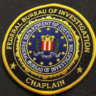 FBI - Federal Bureau of Investigation CHAPLAIN + full color ver patch Very Rare