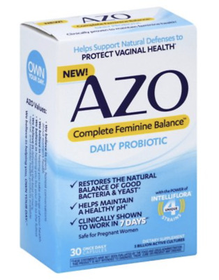 Azo Complete Feminine Balance Probiotic Women's 30 Once Daily Capsules Exp 2021