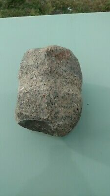 Authentic EARLY NATIVE AMERICAN INDIAN STONE AXE/HAMMER HEAD, GROOVED