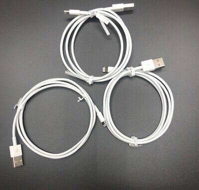 3 pack Genuine OEM Apple iPhone 1m 3ft USB Cable wall charger X 8 7 6S