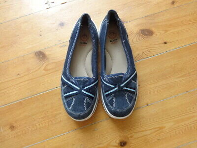 Earth Spirit Great Navy Lightweight Casual Comfort Slip on Shoes Size 5