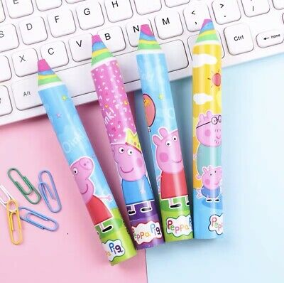 New Kids School Stationery Peppa Pig Set Of 4 Large Rubbers/Erasers