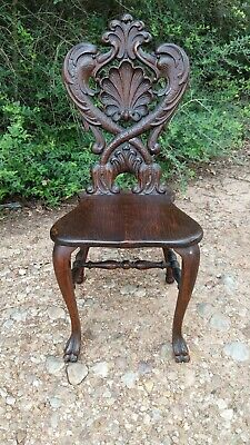 Antique Hand Carved Victorian Masterpiece Chair! Signed! French! Griffin's