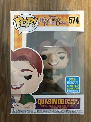 Quasimodo holding Gargoyle Funko Pop #574 SDCC 2019 The Hunchback of Notre Dame