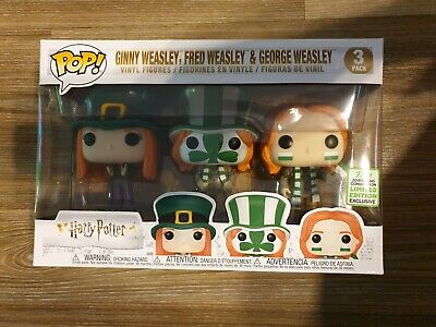 Ginny, Fred & Georg Weasley 3 Pack ECCC 2019 Limited Edition  Harry Potter Funko