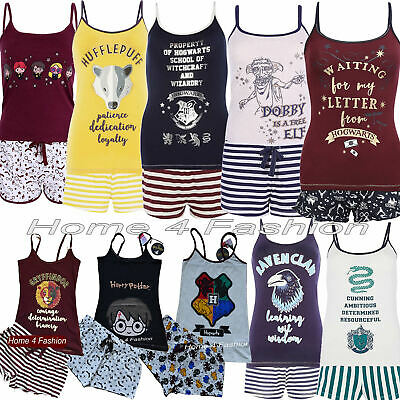 PRIMARK Ladies Harry Potter Pyjamas Cami Vest Top Shorts Girls Pjs Women Pajamas