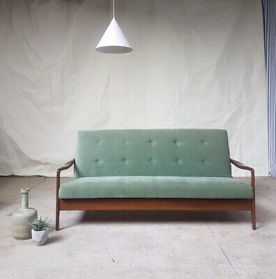 Vtg Mid Century Teak Greaves And Thomas Sofa Bed Daybed Danish Scandi Design