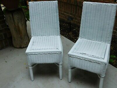 Vintage 1930's White Wicker Side Chairs Lloyd Mfg, from Cripple Creek, CO