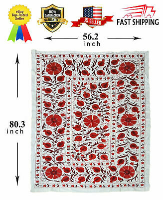 Wall Hanging Uzbek Beautiful Vintage Handmade Embroidery Tablecloth Suzani