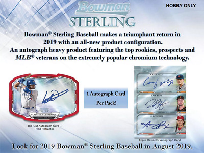 2019 Bowman Sterling Baseball Live Random Player 1 Box Break - 5 Autos