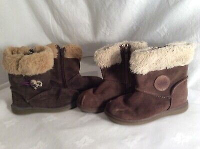 CLARKS KIDS GIRLS (Two Pairs ) Leather Boots Size 4.5 F And 6.5 F