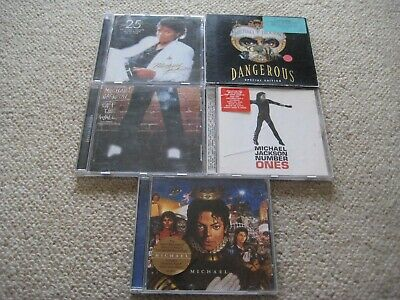 5 X Michael Jackson Cd - Thriller 25 Off The Wall Michael Number Ones Dangerous