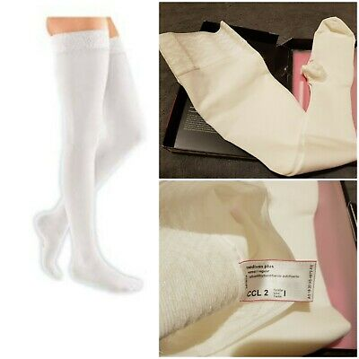 Mediven Plus Medical Compression Stocking Thigh White CCL 2 Size I 1