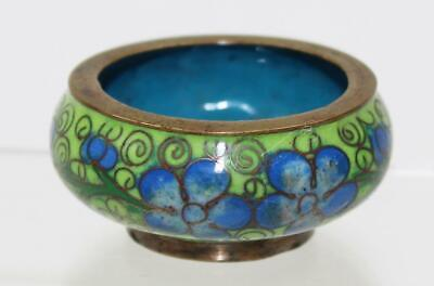 Very Fine 20thC Chinese PRC Vintage Doll House Cloisonne Floral Bowl