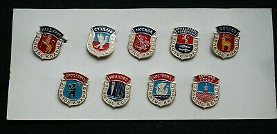 Ussr Russia Soviet Union Pin Badge Set Crests Of The Cities Of The Golden Ring