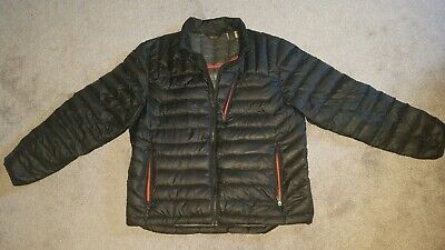 Mens ORVIS Trout Bum Black puffer Quilted Down JACKET Large L