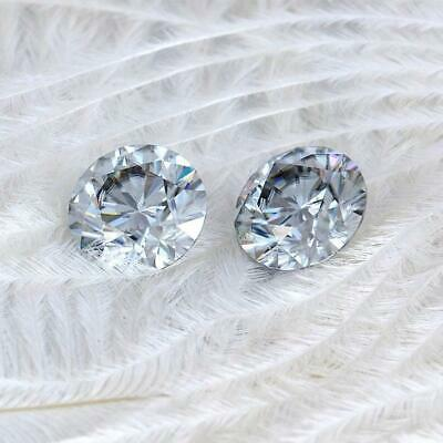 0.50 To 5.00 Ct Grey Color Loose Moissanite Round Brilliant Cut VVS1/2 Clarity F