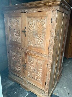 ornate antique moroccan wardrobe/cupboard
