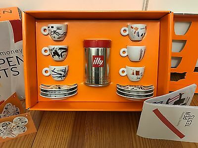 "illy collection ""Pen Tests"" by PADRAIG TIMONEY, 6-teilges Espressoset, NEU!"