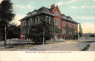 Cleveland Ohio 1908 Postcard Electrical building Case School Applied Science