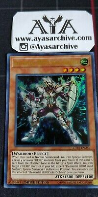Elemental HERO Solid Soldier - CT15-EN003 - Ultra Rare - Limited Edition NM ayas