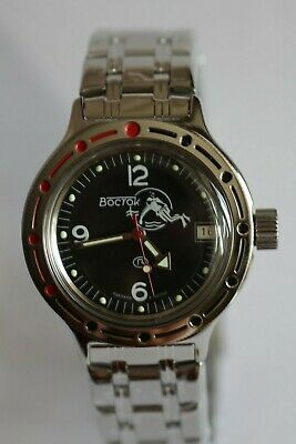 Military Russian Diver Watch Vostok Amphibian Mechanical Automatic 420634