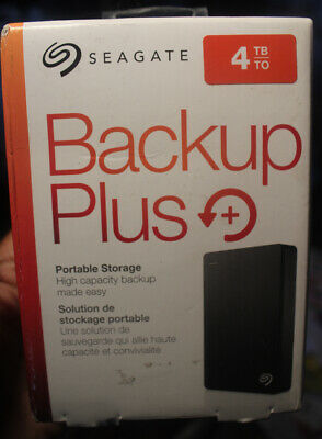 Seagate 4TB Backup Plus Portable External Hard Drive - USB 3.0 STDR4000100